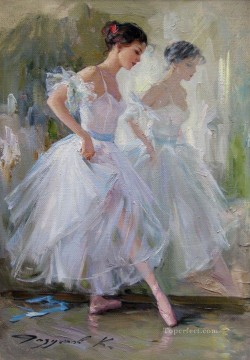 ballet Painting - Pretty Lady KR 033 Little Ballet Dancers