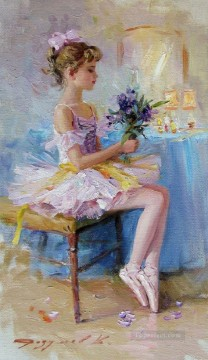 ballet Painting - Pretty Woman KR 018 Little Ballet Dancer