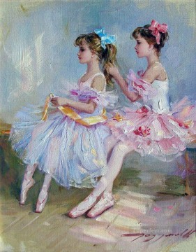 ballet Painting - Pretty Woman KR 023 Little Ballet Dancers