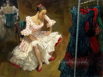 Nude Ballet Painting - Rest of Flamenco dancer Ballet