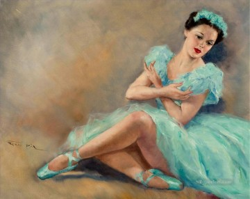 Nude Ballet Painting - ballet in blue