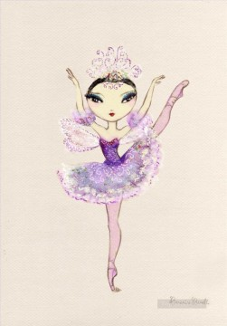 Dancing Ballet Painting - lilac fairy ballet