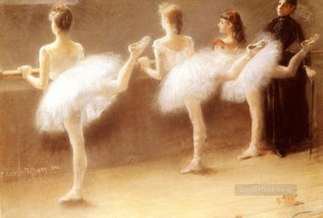 Nude Ballet Painting - At The Barre ballet dancer Carrier Belleuse Pierre