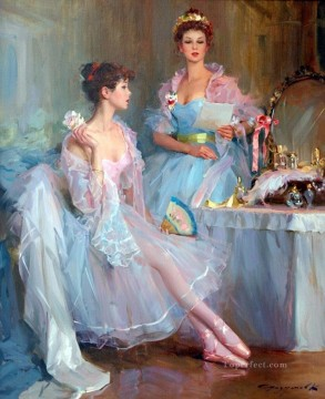 ballet Painting - Beautiful Girl KR 050 Little Ballet Dancers