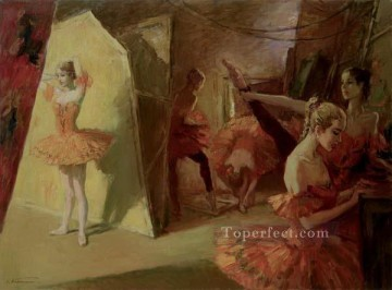 Nude Ballet Painting - Before the entrance Ballet