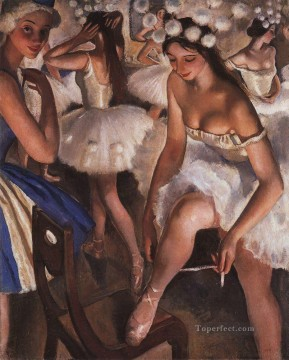 Nude Ballet Painting - French ballet girl