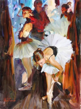 ballet Painting - Pretty Girl MIG 11 Little Ballet Dancers