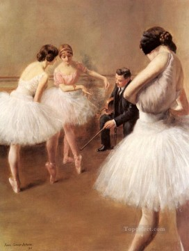 ballet Painting - The Ballet Lesson ballet dancer Carrier Belleuse Pierre