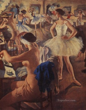 Artworks in 150 Subjects Painting - in dressing room ballet swan lake 1924 Russian ballerina dancer