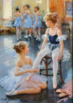 ballet Painting - Beautiful Girl KR 041 Little Ballet Dancers
