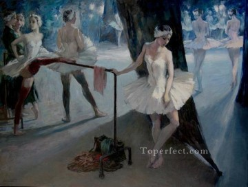 ballet Painting - During the Performance Ballet