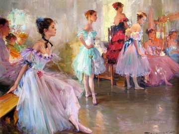 ballet Painting - Pretty Lady KR 074 Little Ballet Dancers