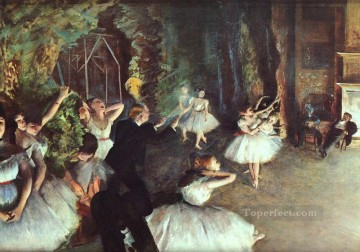Nude Ballet Painting - Rehearsal on the Stage Impressionism ballet dancer Edgar Degas