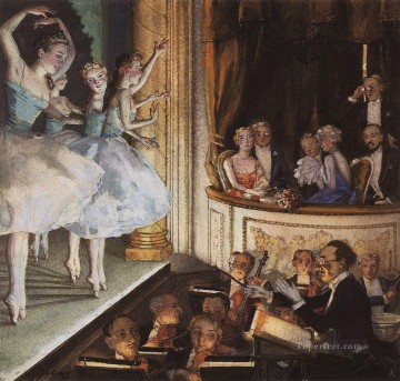 Artworks in 150 Subjects Painting - russian ballet Konstantin Somov ballerina
