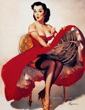 Pin up Painting - ELVGREN 2 pin up