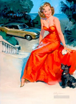 Elvgren Ditzler pin up Oil Paintings