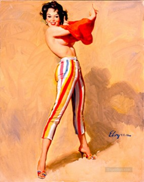 Pin up Painting - Elvgren Swim Anyone pin up