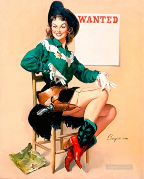 Pin up Painting - Elvgren Wanted pin up
