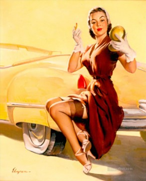 Pin up Painting - Gil Elvgren pin up 08