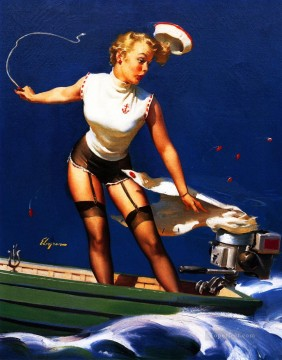 Pin up Painting - Gil Elvgren pin up 21
