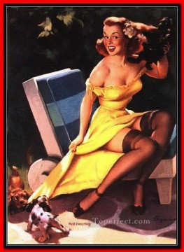 Gil Elvgren pin up 28 Oil Paintings