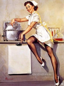 Gil Elvgren pin up 34 Oil Paintings