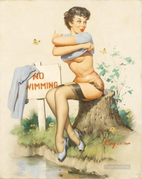 Pin up Painting - Gil Elvgren pin up 45