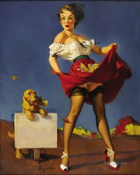 Pin up Painting - Gil Elvgren pin up 48