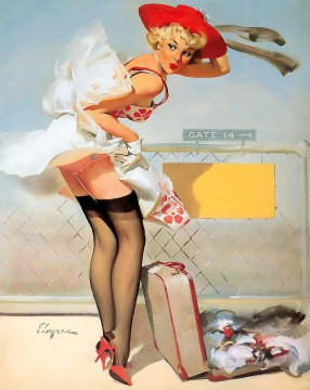 Gil Elvgren pin up 49 Oil Paintings