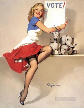 Pin up Painting - Gil Elvgren pin up 50