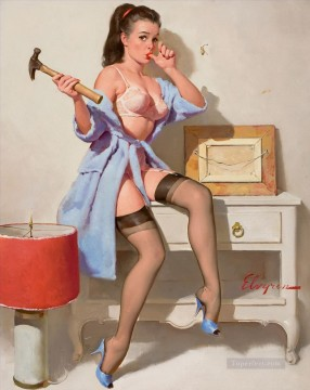 Pin up Painting - Gil Elvgren pin up 66