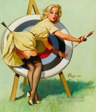 Pin Up Girl Girls Oil Paintings