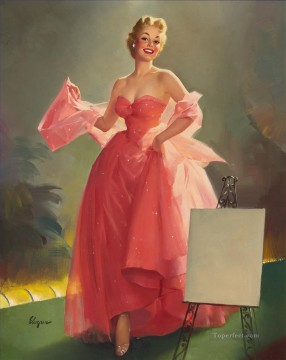 Pin up Painting - Pin Up Girls gil elvgren