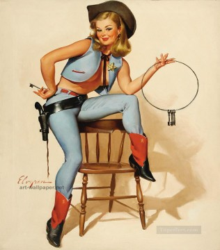 Pin up Painting - Pin up girls gil elvgren 4