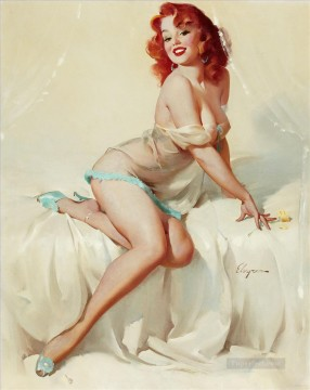 darlene bedside manner 1958 pin up Oil Paintings
