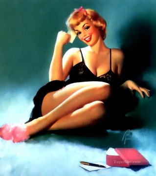 edward runci pin up Oil Paintings