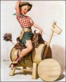elvgren sittingpretty pin up