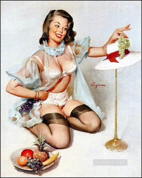 Pin up Painting - elvgren tastefuldesign pin up
