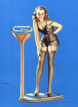 Pin up Painting - figures dont lie 1939 pin up