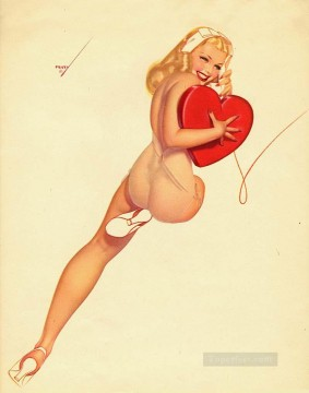 george petty curvy pin up Oil Paintings