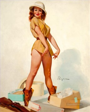 pin up chicas retro 3 Oil Paintings