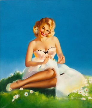 pin up girl nude 006 Oil Paintings