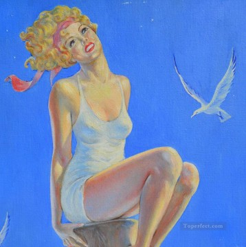 pin up girl nude 013 Oil Paintings