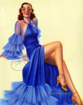 Pin up Painting - pin up girl nude 014