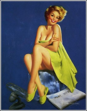 Pin up Painting - pin up girl nude 027