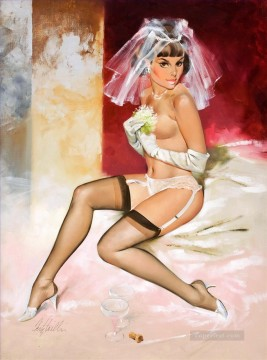 pin up girl nude 029 Oil Paintings