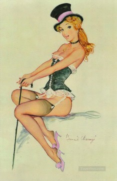 Pin up Painting - pin up girl nude 040