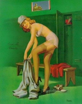 Pin up Painting - pin up girl nude 059