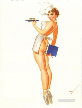 Pin up Painting - pin up girl nude 060