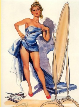 Pin up Painting - pin up girl nude 081